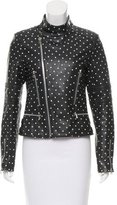 Each X Other Polka Dot Print Leather Jacket