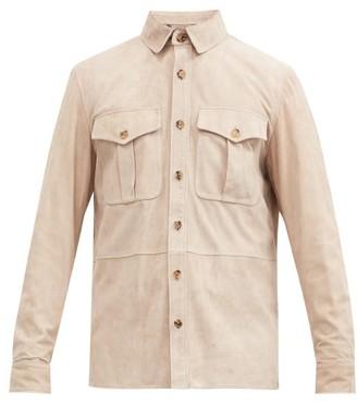 Ralph Lauren Purple Label Suede Overshirt - Grey
