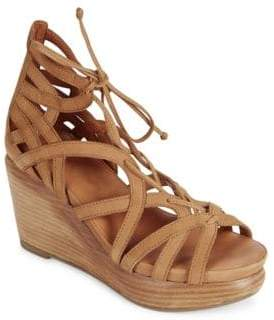 Kenneth Cole Gentle Souls By Joy Nubuck Leather Platform Wedge Sandals