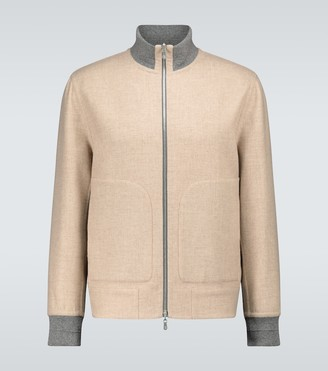 Brunello Cucinelli Double-wool bomber jacket