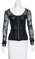 John Galliano Corset Knit Top