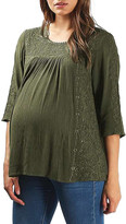 Topshop Embroidered Peasant Top (Maternity)