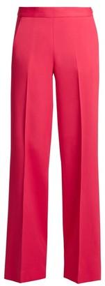 Oscar de la Renta High-rise Wide-leg Stretch-cady Trousers - Pink