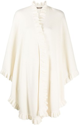 N.Peal Frill Edge Cashmere Cape