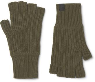 Rag & Bone Ace Ribbed Cashmere Fingerless Gloves - Men - Green