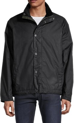 Barbour Raglan-Sleeve Waxed Cotton-Blend Jacket