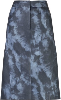 Tibi Tie-Dye Pencil Skirt