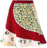 Coach panelled A-line skirt - women - Silk/Cupro - 2