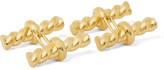Tom Ford Twisted Gold-tone Silver Cufflinks