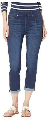 Liverpool Chloe Pull-On Crop Rolled Cuff in Valerie (Valerie) Women's Jeans