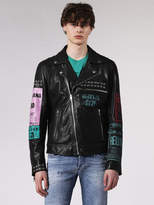 Diesel DieselTM Leather jackets 0PAQH - Black - L
