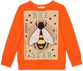 "Gucci Children's sweatshirt with ""Bee Star"" print"