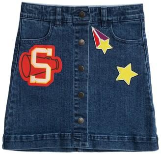 Stella Mccartney Kids Varsity Badge Denim Skirt (4-14 Years)