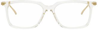 Bottega Veneta Transparent Square Glasses