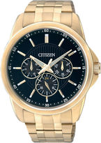 JCPenney Citizen Quartz Citizen Mens Gold-Tone Stainless Steel Watch AG8342-52L