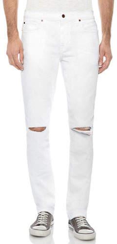 Joe's Jeans Men's The Slim-Fit Distressed Jeans, White