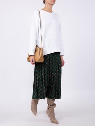 Gucci Pleated Stirrups Print Midi Skirt