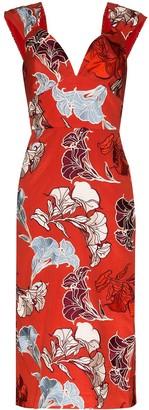 Johanna Ortiz floral print fitted dress