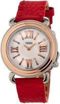 Fendi 37mm Selleria 18k Leather Watch