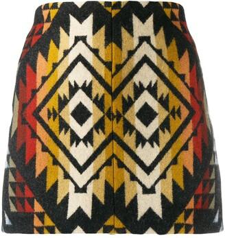 Jessie Western Embroidered Mini Skirt