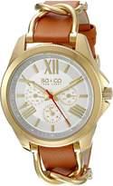 SO & CO New York Women's 5215.2 SoHo Analog Display Quartz Brown Watch