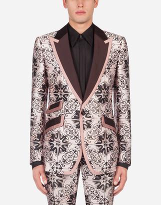 Dolce & Gabbana Jacquard Maiolica Tuxedo Jacket