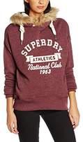 Superdry Women's Applique Fur Hood Sweatshirt,M