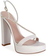 Gianvito Rossi Assymetric Platform Crystal-Trim Sandals