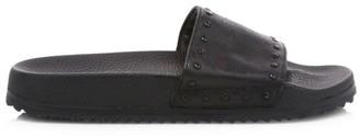 John Varvatos Studded Leather Pool Slides
