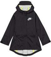 Nike Black Hooded Rain Jacket