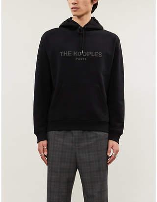 The Kooples Brand-print stretch-jersey hoody