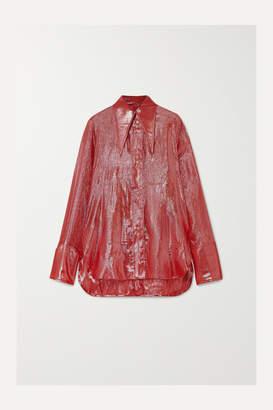 Ellery Joplin Silk-blend Lame Shirt - Red