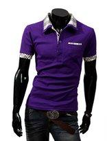 Bestgift Men's Cotton Casual Slim Short Sleeve Polo T-shirt M