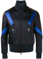 Neil Barrett panelled sport jacket - men - Polyamide/Acetate/Viscose/Cotton - M