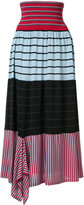 Sonia Rykiel striped A-line skirt - women - Silk/Cotton - L