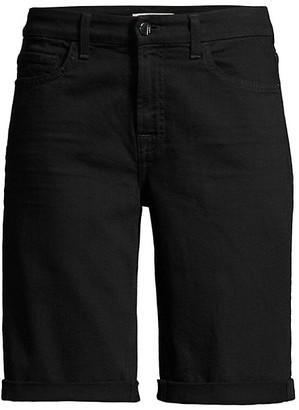JEN7 by 7 For All Mankind Rolled-Cuff Denim Bermuda Shorts