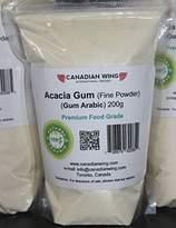 Canadian Wing Gum Acacia Powder - 200g (Fine Powder - Premium Quality) Acacia Gum Fiber / Arabic Gum