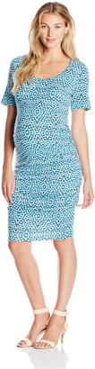 Tart Collections Women's Maternity Bump Rouched Midi Dress