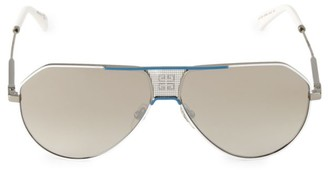 Givenchy 61MM Mirrored Aviator Sunglasses
