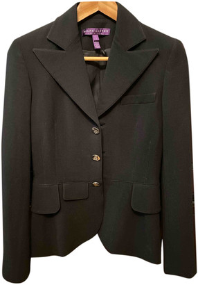Ralph Lauren Purple Label Black Wool Jackets