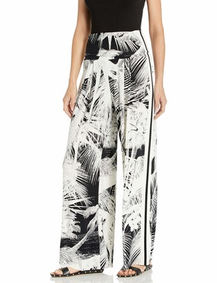 Norma Kamali Women's Side Stripe HIGH Waist Pleat Pant