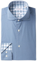 Isaac Mizrahi Diagonal Print Slim Fit Dress Shirt