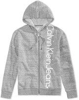 Calvin Klein Jeans Men's Grindle Appliqué-Logo Cotton Hoodie