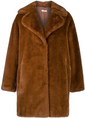 P.A.R.O.S.H. Oversized Faux-Fur Coat