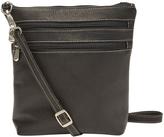 Le Donne Black Double-Zip Leather Crossbody Bag