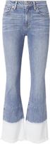 Derek Lam 10 Crosby Bleach Hem Crop Flare Jeans