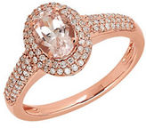 Lord & Taylor Morganite, Diamond and 14K Rose Gold Ring