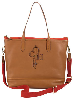 Cole Haan Bellport Double-Tote Bag, Brown/Orange