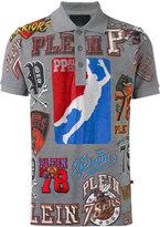 Philipp Plein basketball print polo shirt - men - Cotton - XS