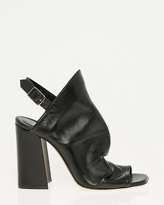 Le Château Italian-Made Leather Slingback Shootie